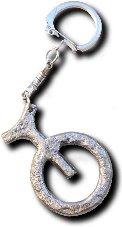 Брелок уницикл кованый